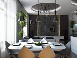 04 Столовая комната в стиле минимализм от студия визуализации и дизайна интерьера '3dm2' Минимализм
