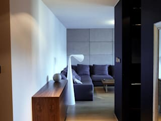 4Q DEKTON Pracownia Architektoniczna Scandinavian style corridor, hallway& stairs