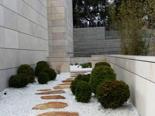 Patio de grava Jardines de estilo minimalista de ISAURA ROMEO ESTUDIO DE PAISAJISMO Minimalista