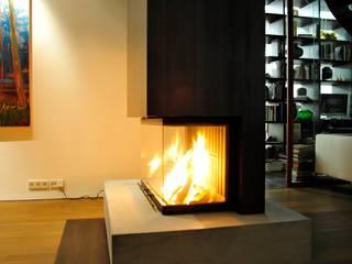 Atelier und Wohnhaus: moderne Wohnzimmer von SNAP Stoeppler Nachtwey Architekten BDA Stadtplaner PartGmbB