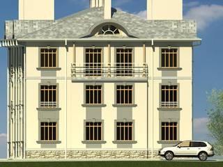 Боковой фасад: Дома в . Автор – Проектное бюро 'АДЕКО', г. Казань