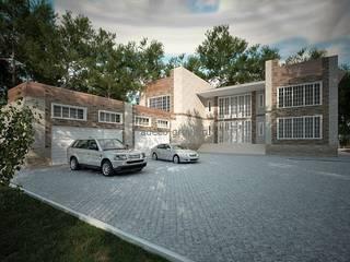 Большой дом с гаражом на 4 автомобиля: Дома в . Автор – Проектное бюро 'АДЕКО', г. Казань