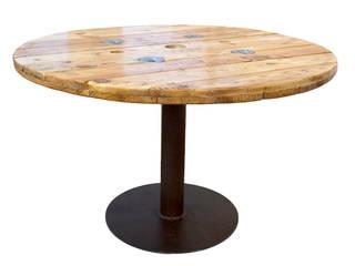 Mesa Bobina:  de estilo  de Iron and wood