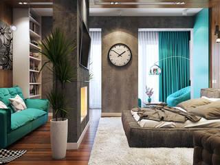 студия визуализации и дизайна интерьера '3dm2' Dormitorios de estilo industrial