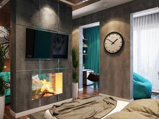 Квартира с ярким акцентом: Спальни в . Автор – студия визуализации и дизайна интерьера '3dm2', Лофт