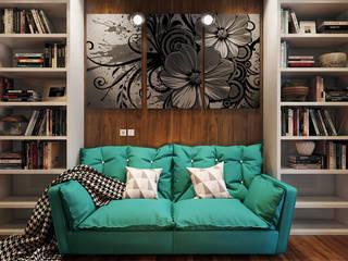 Квартира с ярким акцентом:  в . Автор – студия визуализации и дизайна интерьера '3dm2', Лофт