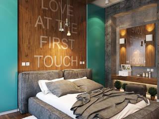 Dormitorios de estilo industrial por студия визуализации и дизайна интерьера '3dm2'