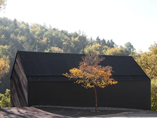 Schwarz auf Weiß Minimalistische Häuser von Fabi Architekten BDA Minimalistisch