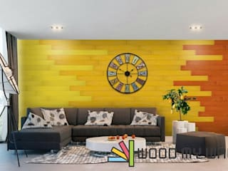 Paredes y pisos de estilo moderno de WoodMyWall Moderno
