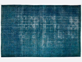 Vintage Handmade Over-dyed Rug In Turquoise 005:   by All the hues