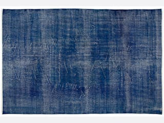 Vintage Handmade Over-dyed Rug In Blue 001:   by All the hues