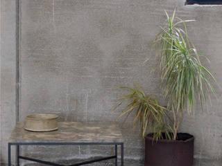 """Mesa de centro de mármol """"rain forest"""" y acero de Cube Deco Moderno"""