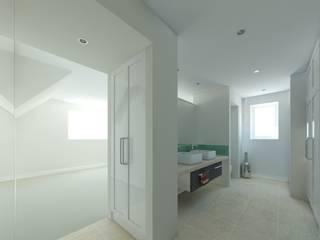 The Hawthorns, Wellington:  Bathroom by OHA Architecture