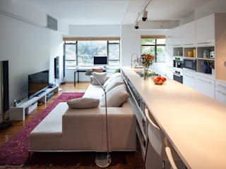 Living room by atelier blur / georges hung architecte d.p.l.g., Modern