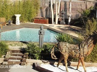 PISCINA DE EXPOSICIÓN: Piscinas naturales de estilo  de Piscinas Azul-Agua
