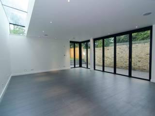Hampstead development: minimalistic Living room by London Refurbishments