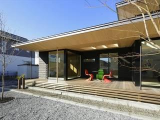 아시아스타일 발코니, 베란다 & 테라스 by 長谷川拓也建築デザイン 한옥