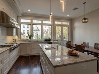 Park Slope Brownstone 3 Colonial style kitchen by Ben Herzog Architect Colonial