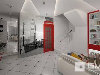 Pasillos, vestíbulos y escaleras de estilo ecléctico de GM-interior Ecléctico