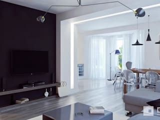 Salon minimaliste par GM-interior Minimaliste