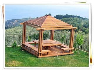 homify Rustic style balcony, veranda & terrace