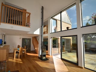 Maryville Passive House Joseph Thurrott Architects 现代客厅設計點子、靈感 & 圖片