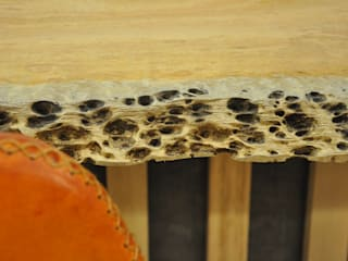 Detalle de madera en mesa de comedor de Cube Deco de Cube Deco Escandinavo
