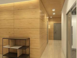 Apartment in Tomsk Pasillos, vestíbulos y escaleras de estilo ecléctico de EVGENY BELYAEV DESIGN Ecléctico