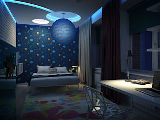 Apartment in Tomsk Eclectic style bedroom by EVGENY BELYAEV DESIGN Eclectic