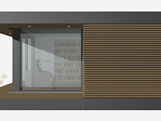 smartshack Phòng học/văn phòng phong cách tối giản