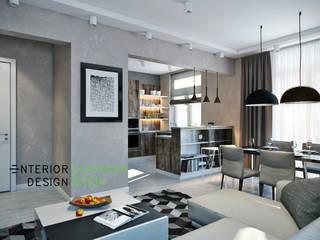 The apartment is in a modern style 80 sq.m. Modern living room by Студия архитектуры и дизайна Дарьи Ельниковой Modern