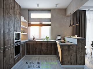 The apartment is in a modern style 80 sq.m. by Студия архитектуры и дизайна Дарьи Ельниковой Eclectic