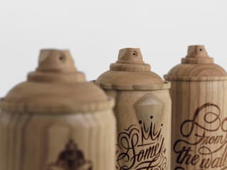 Wooden spray cans,:   by Zics design