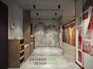 industrial style corridor, hallway & stairs by Студия архитектуры и дизайна Дарьи Ельниковой Industrial