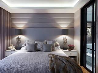 Lateral Apartment, Regents Park Dormitorios de estilo moderno de Helen Green Design Moderno