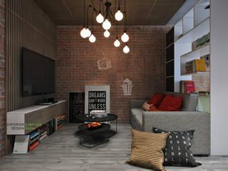 Industrial style living room by Студия архитектуры и дизайна Дарьи Ельниковой Industrial