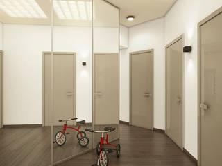 Eco Apartment in Tomsk Pasillos, vestíbulos y escaleras de estilo ecléctico de EVGENY BELYAEV DESIGN Ecléctico