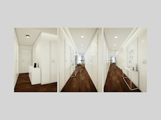Apartment in Munich Pasillos, vestíbulos y escaleras de estilo ecléctico de EVGENY BELYAEV DESIGN Ecléctico