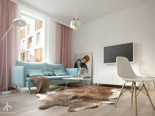 Kamińska Stańczak Scandinavian style living room
