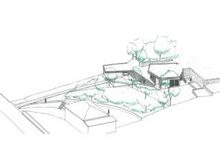 maison dans la pente Maisons modernes par cambiums Moderne