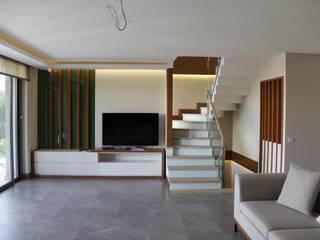 M.BIÇAKÇI HOUSE BODRUM GUNDOGAN Mimkare İçmimarlık Ltd. Şti. Modern Oturma Odası