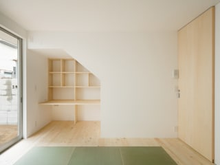 Scandinavian style bedroom by 井戸健治建築研究所 / Ido, Kenji Architectural Studio Scandinavian