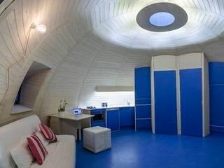 Interior del Xiglú Los Escullos: Casas de estilo  de Xilacurve S.L.