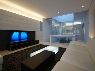 HT house モダンデザインの リビング の アクシス・アーキテクツ/AXIS ARCHITECT & ASSOCIATES モダン