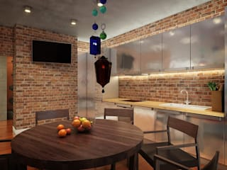 Privat Apartments in Novosibirsk EVGENY BELYAEV DESIGN ห้องทานข้าว