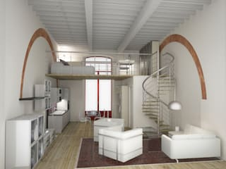 Progetto di ristrutturazione: Soggiorno in stile  di eccOfattO interiors
