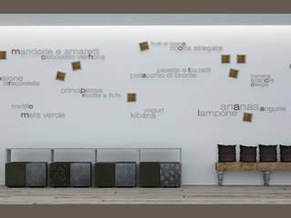 Concept gelateria: Negozi & Locali commerciali in stile  di eccOfattO interiors