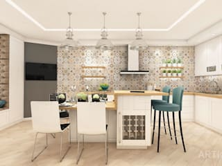 Дизайн интерьера от «Artinterior»: Кухни в . Автор – «Artinterior» – Студия дизайна интерьера