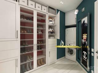 Дизайн интерьера квартиры в Киеве от «Artinterior»: Гардеробные в . Автор – «Artinterior» – Студия дизайна интерьера