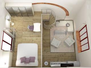 Progetto di ristrutturazione: Camera da letto in stile  di eccOfattO interiors